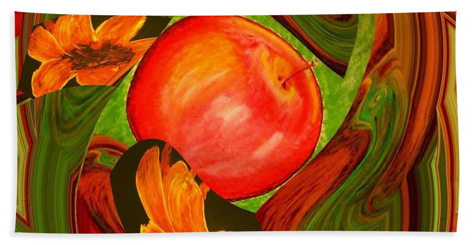 Apple Bath Sheet featuring the digital art Middle Of The Garden by Melvin Moon