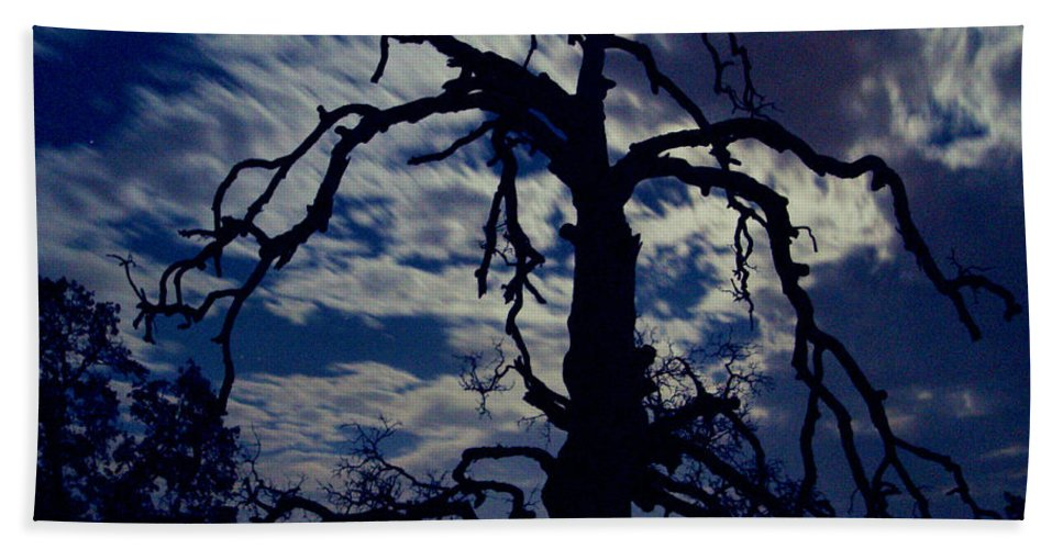 Clouds Hand Towel featuring the photograph Midnight Blue by Peter Piatt