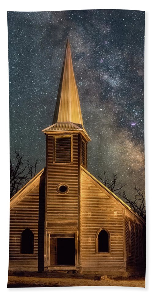 Church Hand Towel featuring the photograph Midnight Grove by Darren White