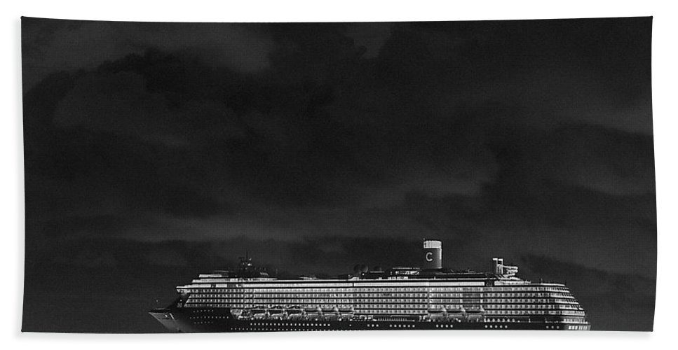 Cruise Hand Towel featuring the photograph Midnight Magic by Gary Wonning