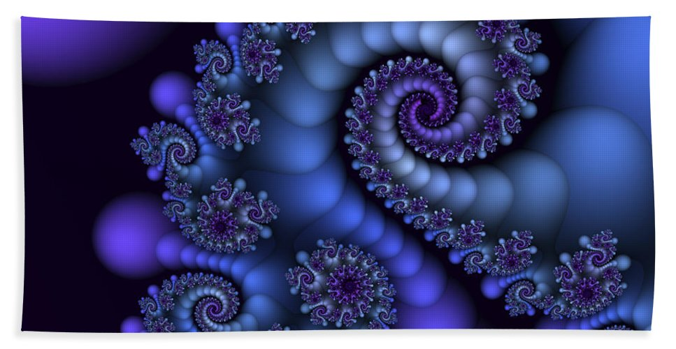 Fractal Bath Towel featuring the digital art Midnight Symphony by Jutta Maria Pusl