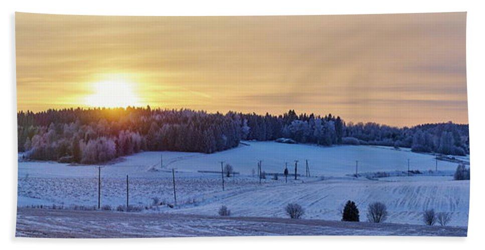 Finland Hand Towel featuring the photograph Mihari Sunset by Jouko Lehto