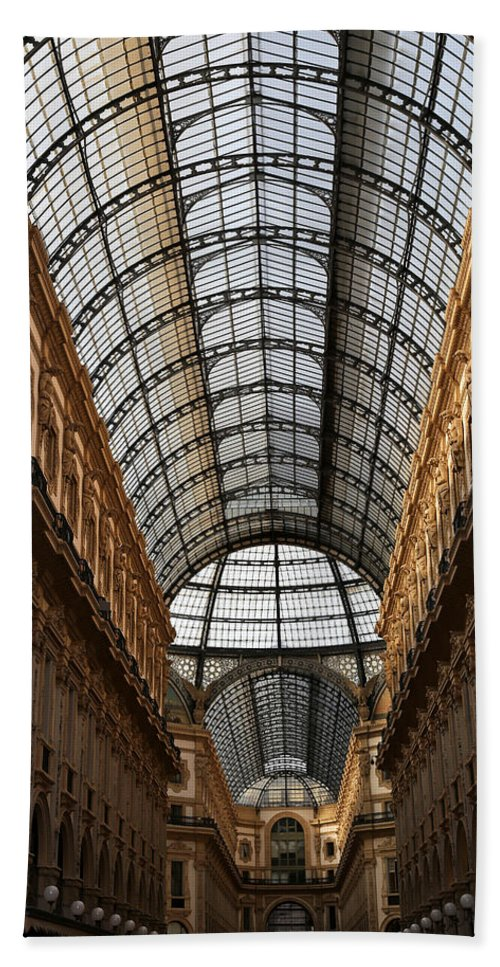 Milan Hand Towel featuring the photograph Milan Galleria 5 by Andrew Fare