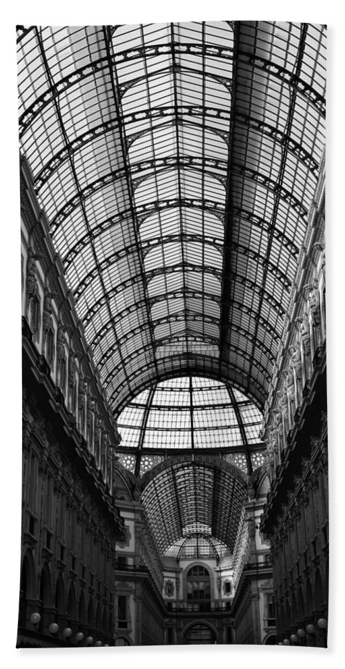 Milan Hand Towel featuring the photograph Milan Galleria 5b by Andrew Fare