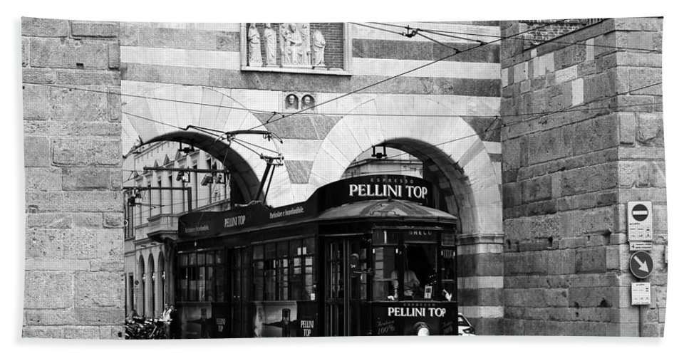 Milan Hand Towel featuring the photograph Milan Trolley 5b by Andrew Fare