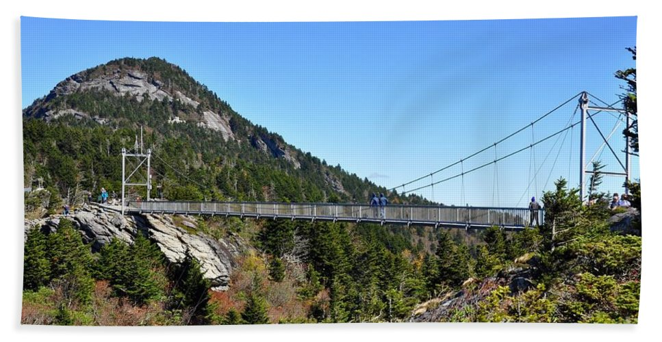 Bridge Hand Towel featuring the photograph Mile-high Bridge by Christina McKinney