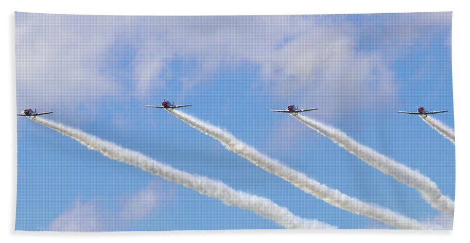Military Hand Towel featuring the photograph Military Planes by Travis Rogers