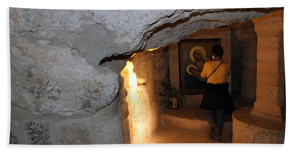 Bethlehem Hand Towel featuring the photograph Milk Grotto Church by Munir Alawi