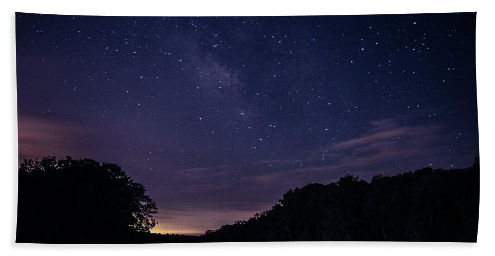 Milky Way Hand Towel featuring the photograph Milky Lake by Benjamin Dunlap