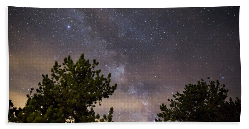 Milky Way Hand Towel featuring the photograph Milky Way I by Jeff Bord