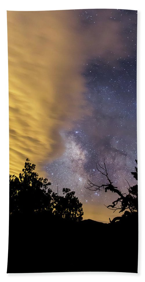 Milky Way Hand Towel featuring the photograph Milky Way Iv by Jeff Bord