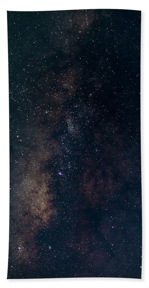 Astrophotography Hand Towel featuring the photograph Milky Way by Robert Bresley
