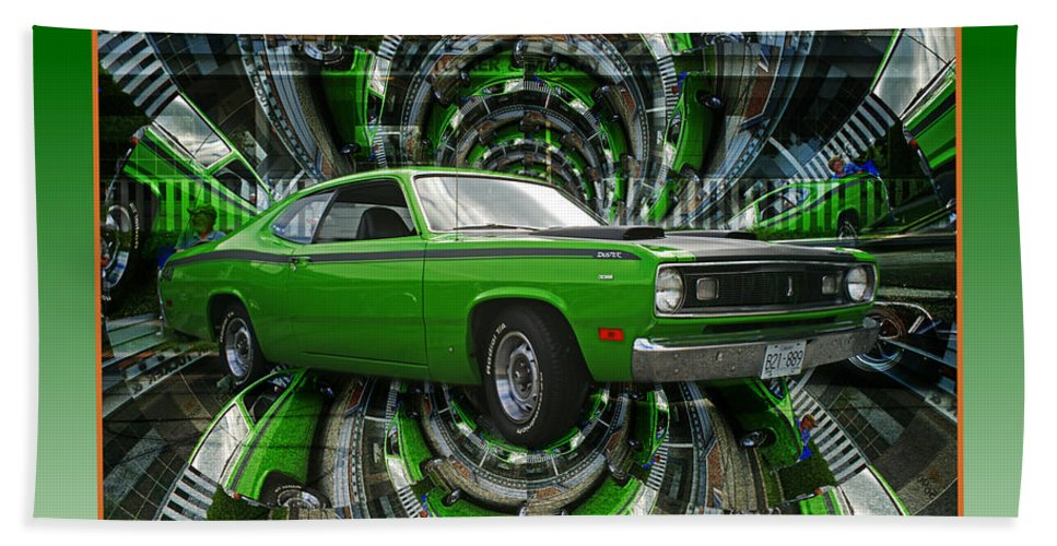 Old Cars Bath Sheet featuring the photograph Mind Blown Duster Abstract by Randy Harris