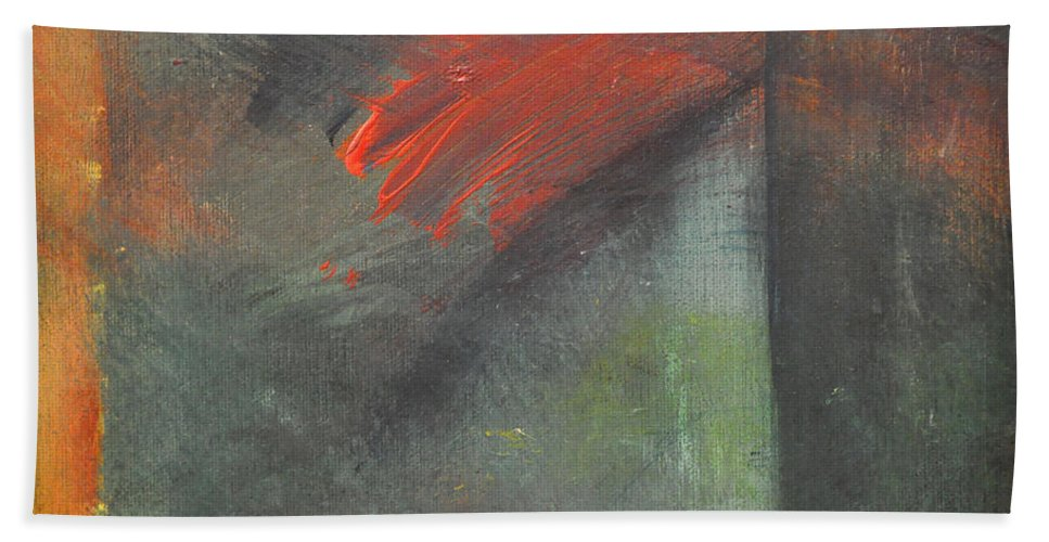 Abstract Hand Towel featuring the painting Mindscape 072707 by Tim Nyberg