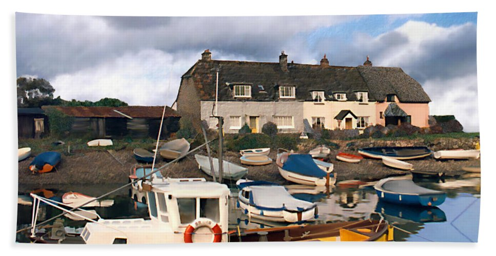 Harbor Hand Towel featuring the photograph Minehead Sommerset by Kurt Van Wagner