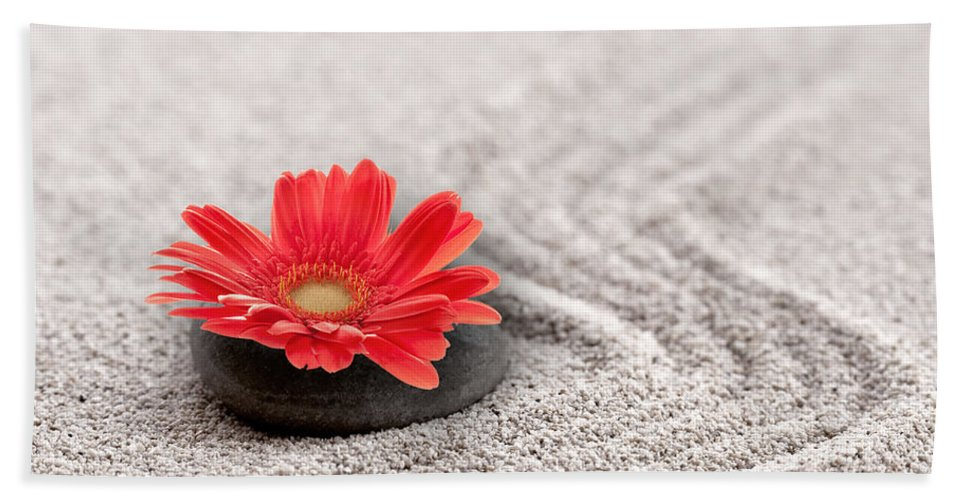 Zen Bath Sheet featuring the photograph Mineral Flower by Delphimages Photo Creations