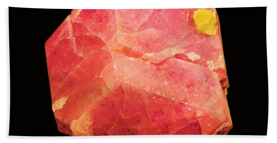 Grossular Hand Towel featuring the photograph Minereality #2 Grossular by Susan Vineyard