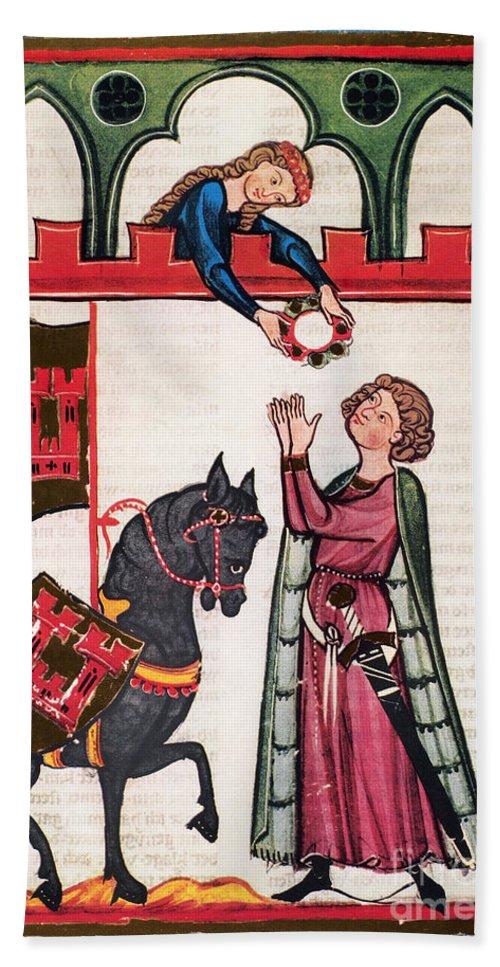 14th Century Bath Sheet featuring the photograph Minnesinger Lieder by Granger