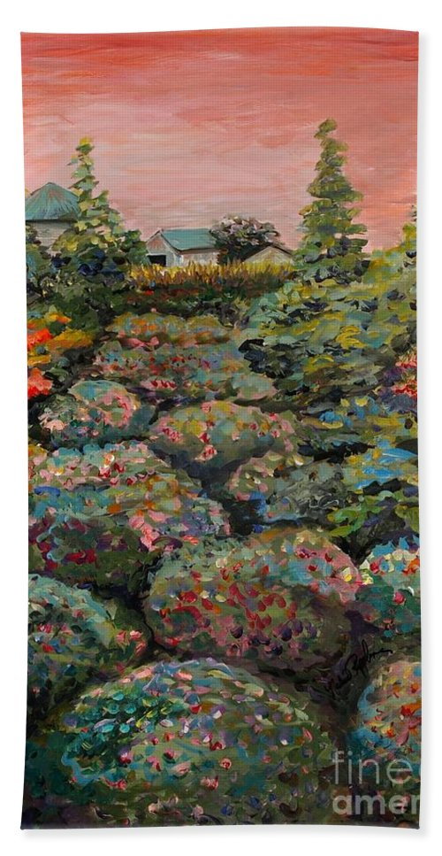 Minnesota Hand Towel featuring the painting Minnesota Memories by Nadine Rippelmeyer