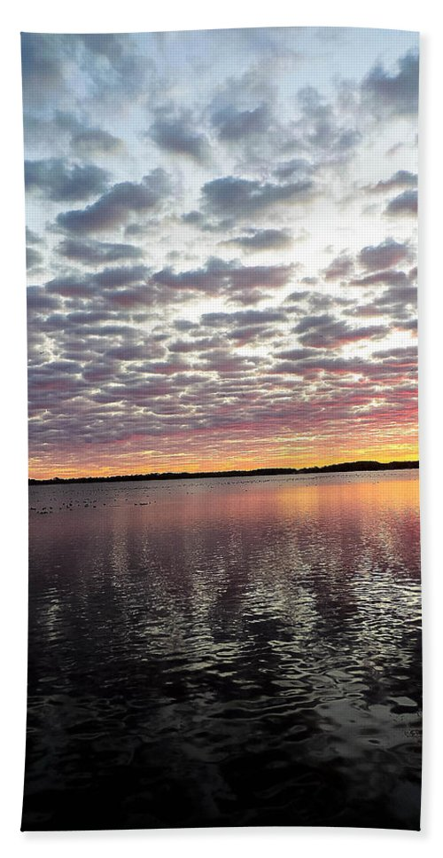 Lake Hand Towel featuring the photograph Minnesota Sunrise by Tracy Welter