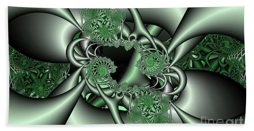Fractal Bath Sheet featuring the digital art Mint3 by Ron Bissett