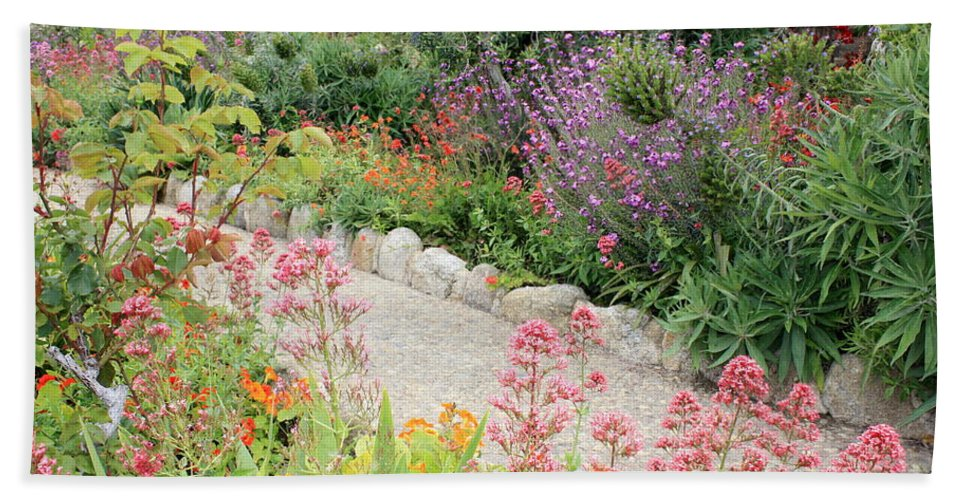 Garden Hand Towel featuring the photograph Mission Garden by Carol Groenen