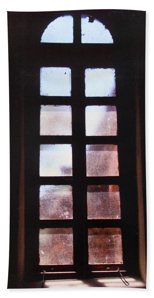San Antonio Bath Sheet featuring the photograph Mission Window by M Diane Bonaparte