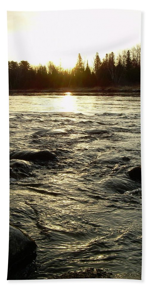 Mississippi River Bath Sheet featuring the photograph Mississippi River Dawn Reflection by Kent Lorentzen