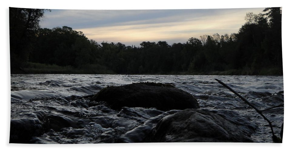 Mississippi River Bath Sheet featuring the photograph Mississippi River Dawn Sky by Kent Lorentzen