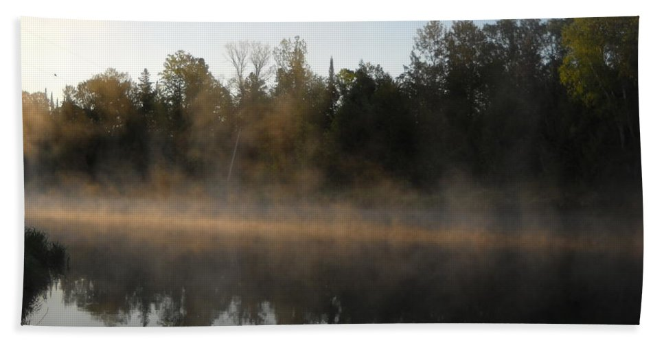Mississippi River Bath Sheet featuring the photograph Mississippi River Smooth Reflection by Kent Lorentzen