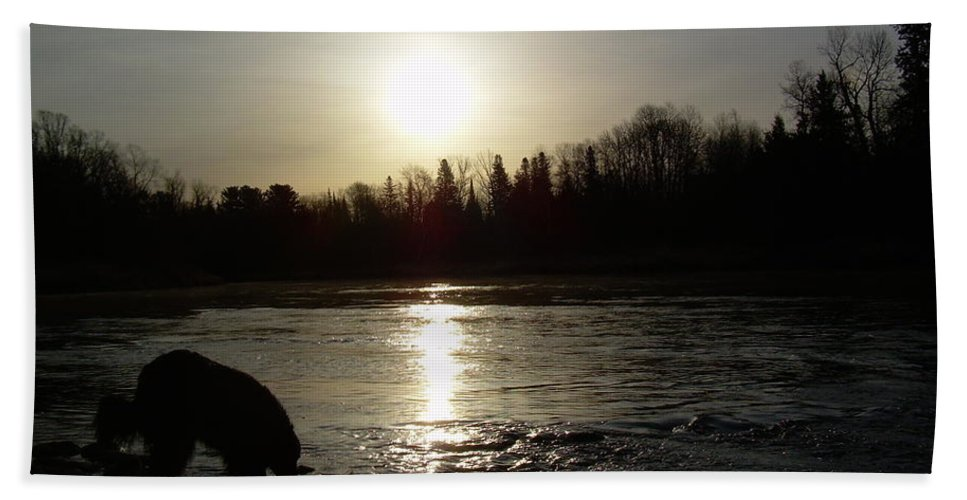 Mississippi River Hand Towel featuring the photograph Mississippi River Sunrise Reflection by Kent Lorentzen