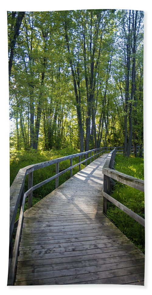 Carleton Place Hand Towel featuring the photograph Mississippi Riverwalk Trail - Carleton Place, Ontario by Rick Shea