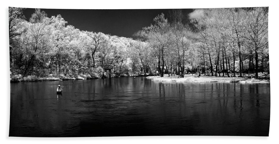 Trout Bath Sheet featuring the photograph Missouri River Fishing Near Infrared by Jerrod Hein