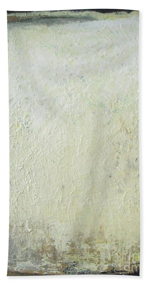 Abstract Painting Bath Sheet featuring the painting Misty December by Vesna Antic