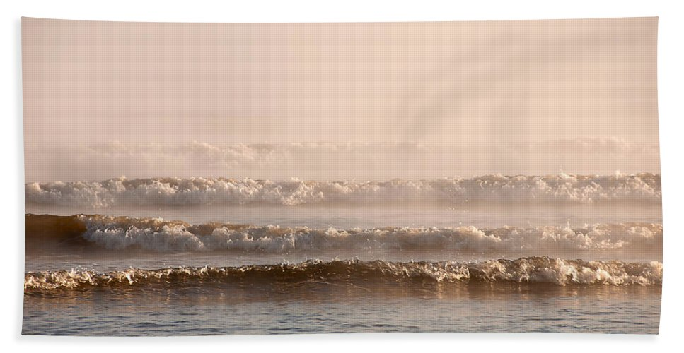 Blue Hand Towel featuring the photograph Misty Mist by Svetlana Sewell