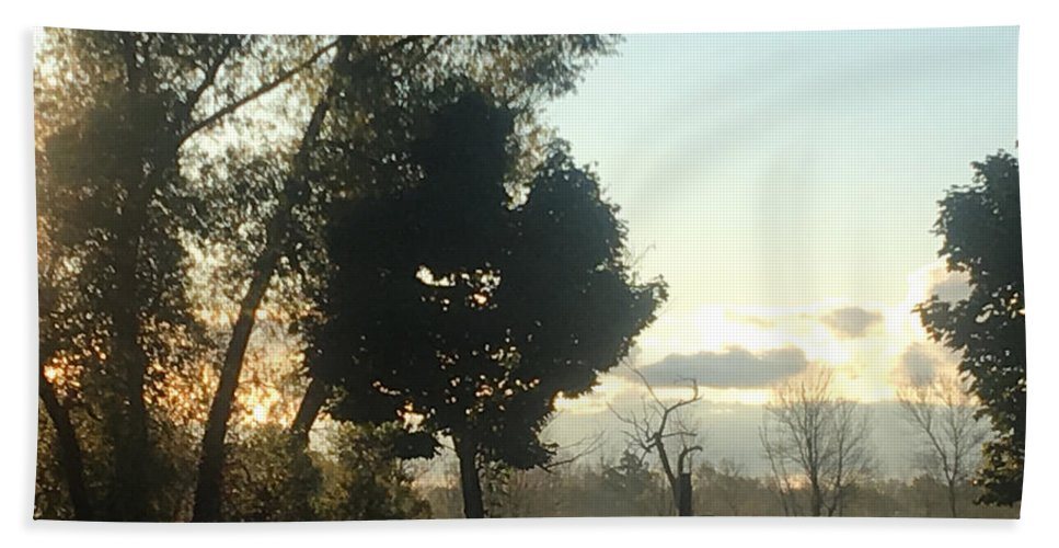 Mist Hand Towel featuring the photograph Misty Morning by Amy Lionheart
