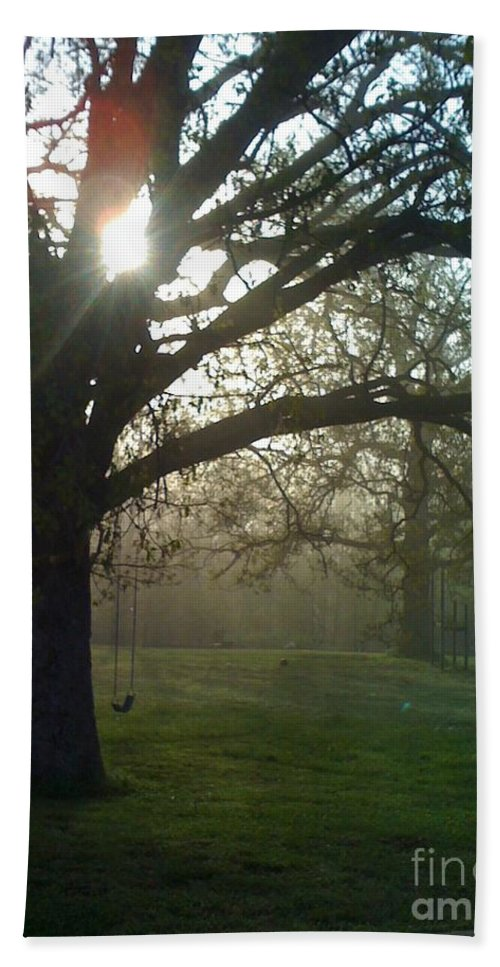 Mist Bath Towel featuring the photograph Misty Morning by Nadine Rippelmeyer