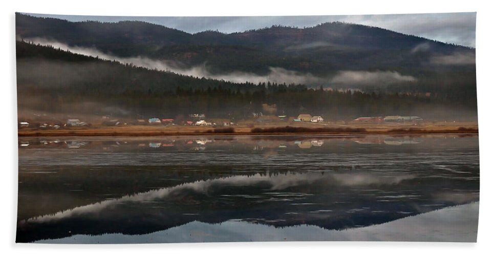 Montana Hand Towel featuring the photograph Misty Reflections by Whispering Peaks Photography