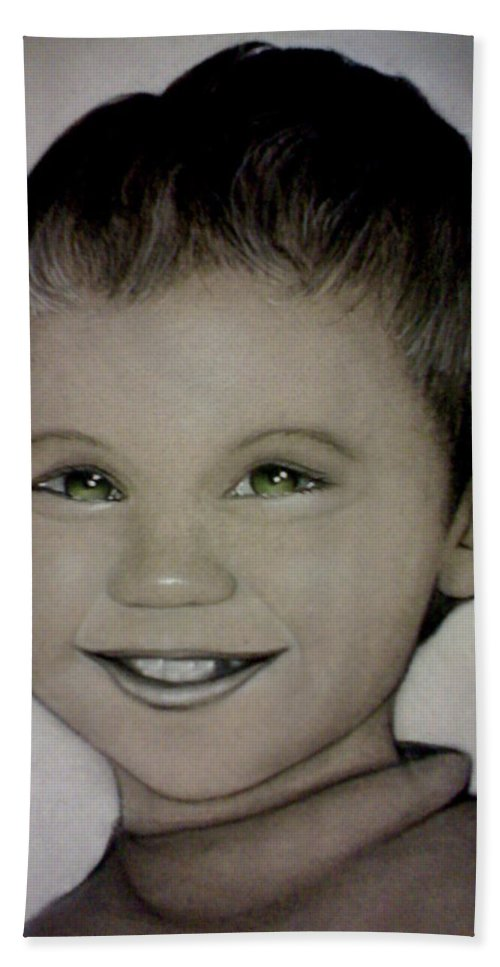 Portrait Bath Sheet featuring the drawing Mixalis by Catt Kyriacou