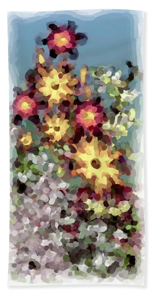 Fantasy Hand Towel featuring the digital art Mixed Floral by David Lane