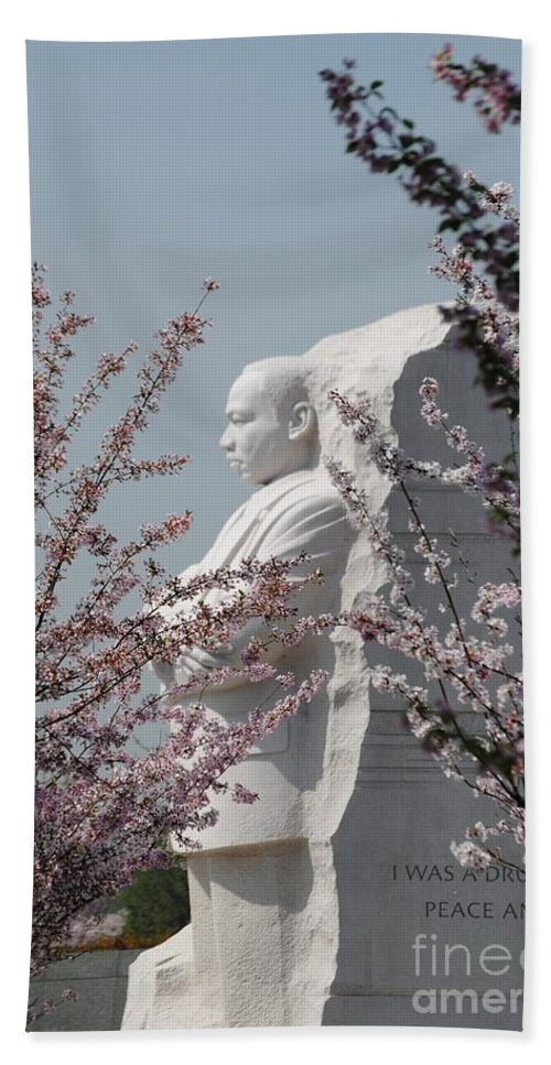 Cherry Hand Towel featuring the photograph Mlk Blossoms by Jost Houk