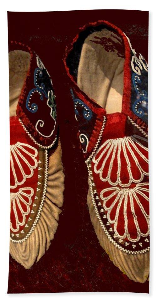 Aboriginal Bath Sheet featuring the photograph Moccasins by Ian MacDonald