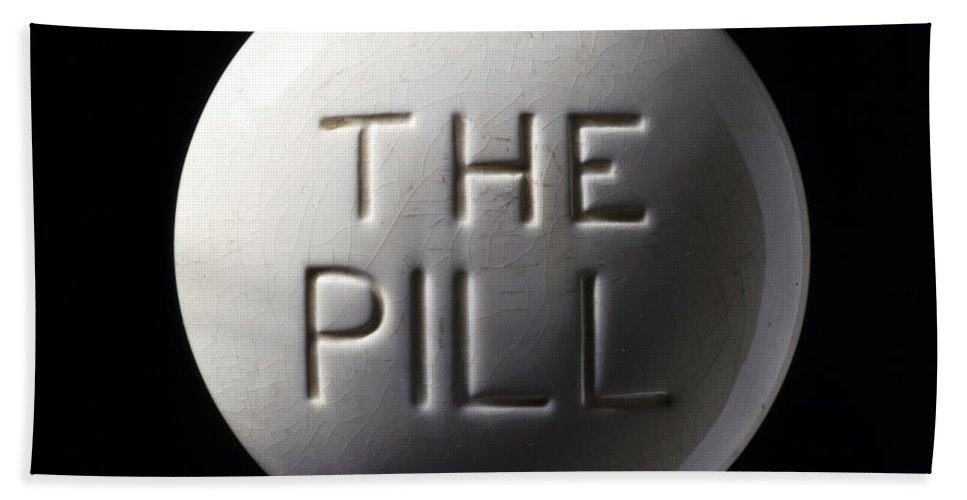 Historic Hand Towel featuring the photograph Model Of Contraceptive Pill, C.1970 by Wellcome Images