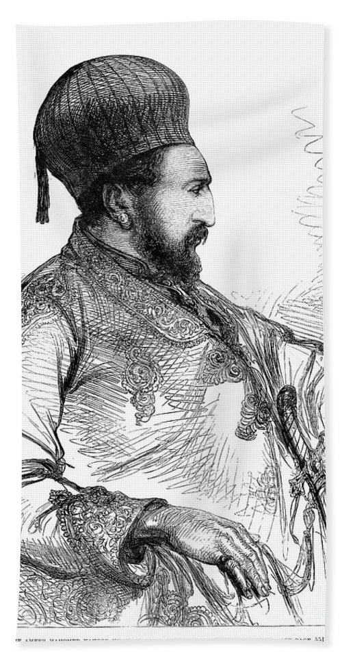 1879 Bath Towel featuring the photograph Mohammed Yakub Khan by Granger