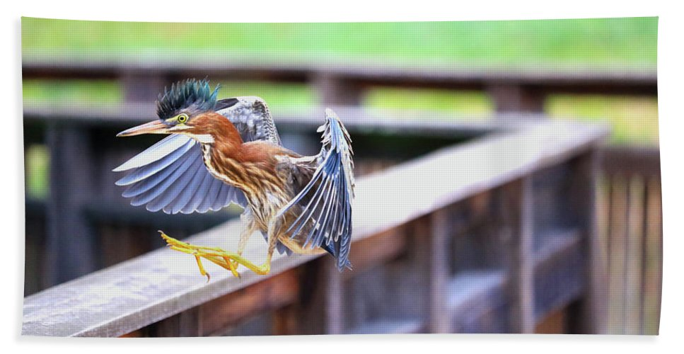 Hand Towel featuring the photograph Mohawk Landing by Tony Umana