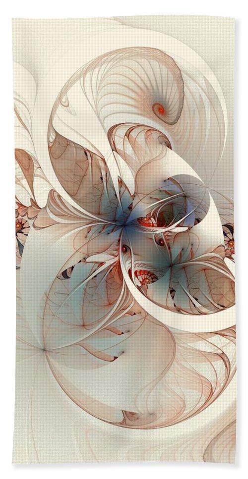 Bath Towel featuring the digital art Mollusca by Amanda Moore