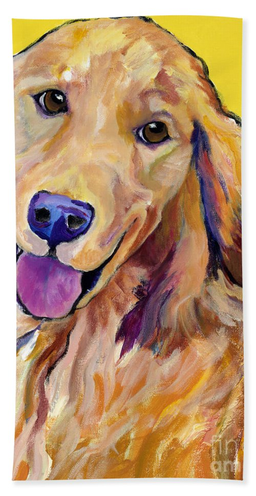 Acrylic Paintings Hand Towel featuring the painting Molly by Pat Saunders-White