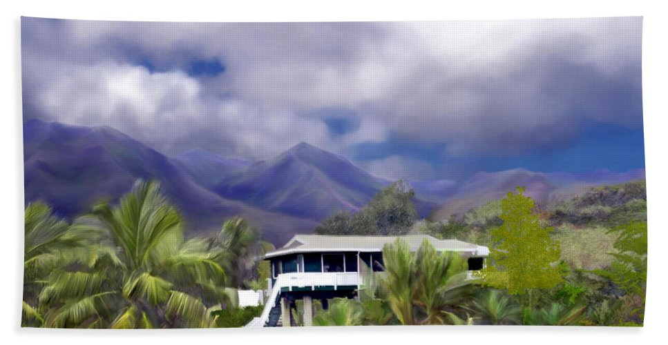 Hawaii Hand Towel featuring the photograph Moloa A Bay Hideaway by Kurt Van Wagner