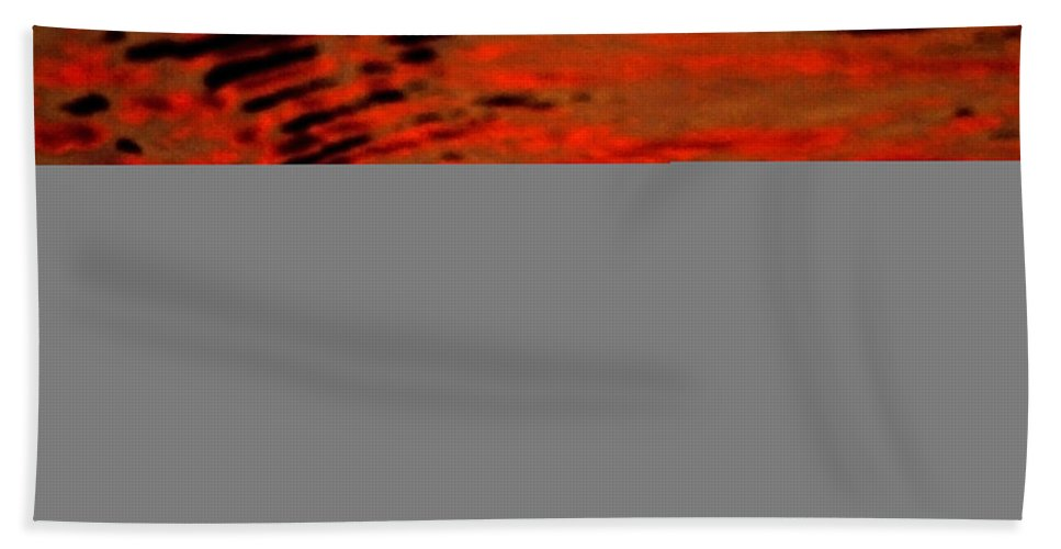 Water Hand Towel featuring the photograph Molten Lava by Donna Blackhall