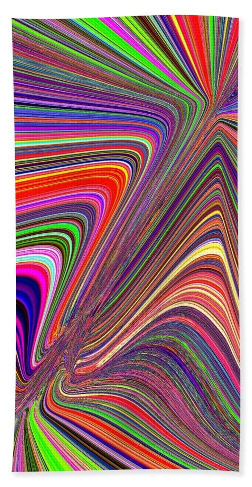 Abstract Bath Sheet featuring the digital art Molten Rainbow by Tim Allen